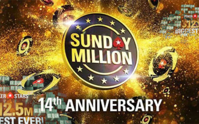 Over $ 17 Million at Sunday Million at PokerStars