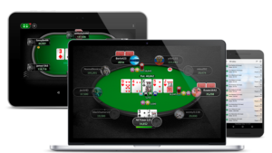 The appearance of the Pokerstars tables