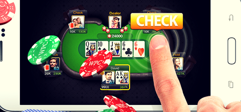 Online poker on smartphone and other mobile devices